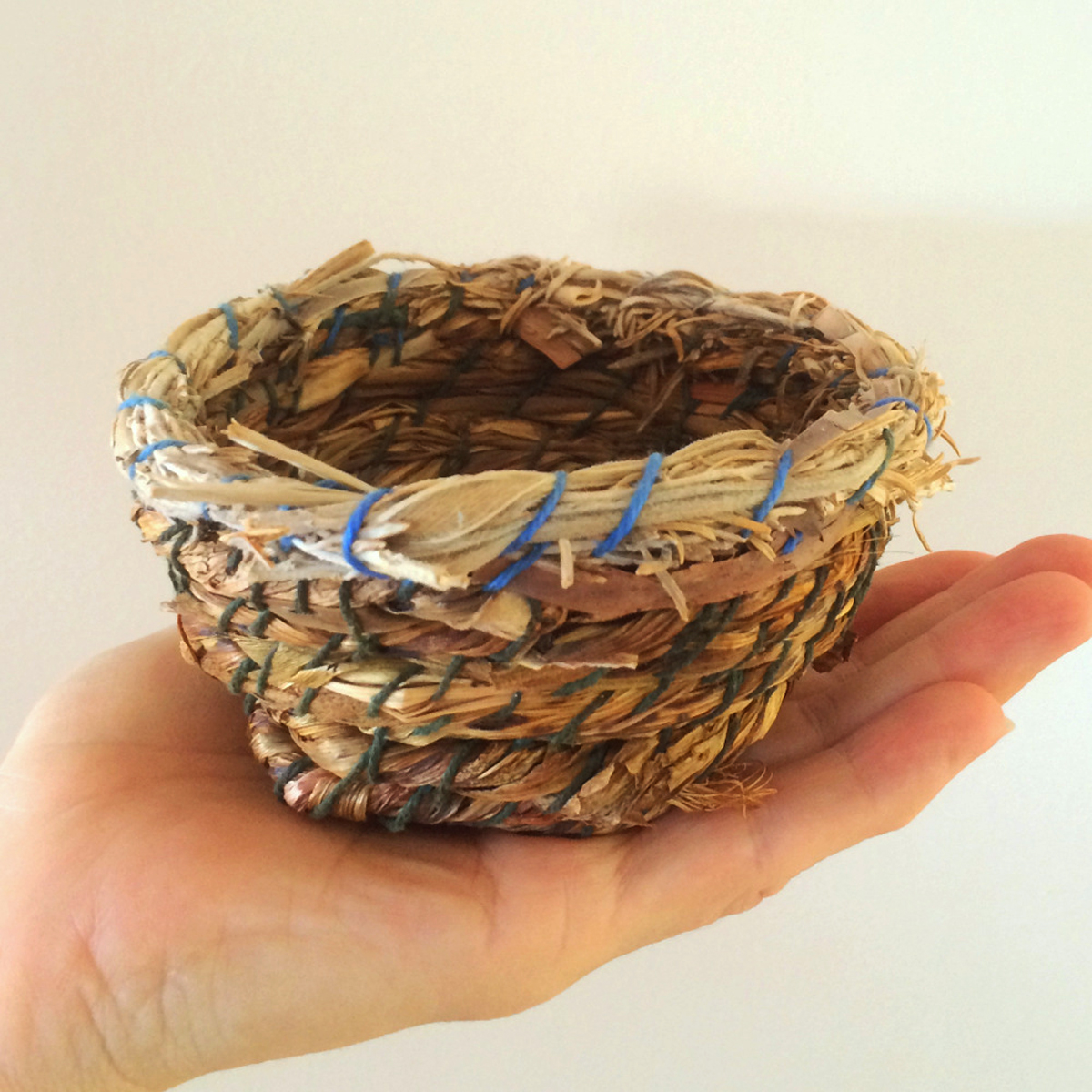 Leanne's first basket ever made nearly 20 years ago
