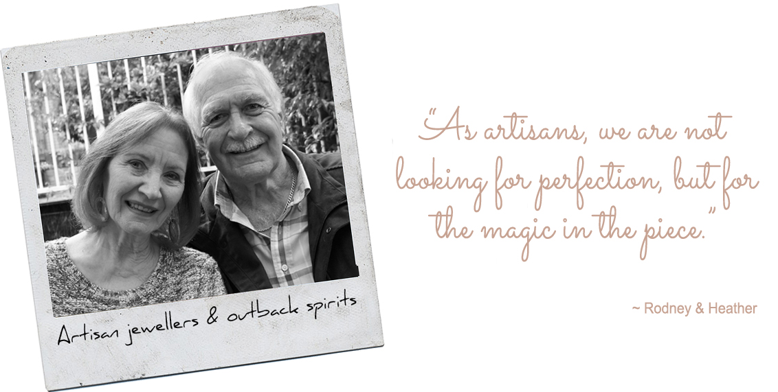 "Artisan jewellers & outback spirits, Silkyecho Pottery: ""As artisans, we are not looking for perfection, but for the magic in the piece."""