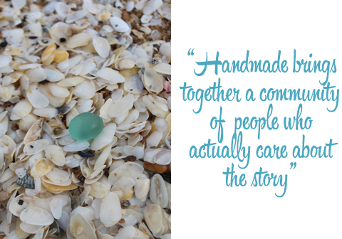 Natural sea glass: handmade brings together a community