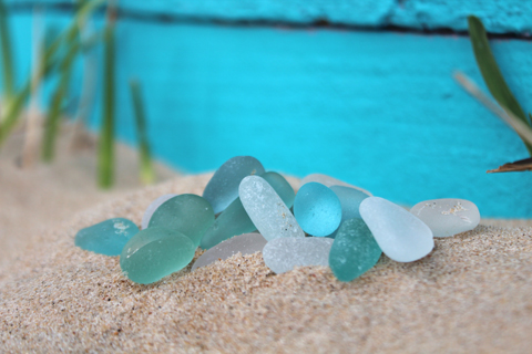 Genuine Sea Glass shaped naturally by the sea