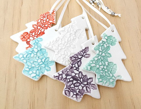 Coloured Christmas tree decorations