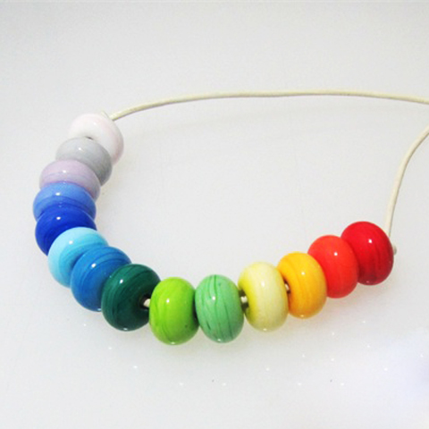 Made It Designer Spotlight: Rainbow Glass Bead Necklace by The Little Glass House