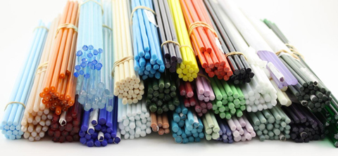 Made It Designer Spotlight: glass rods waiting to be turned into beautiful glass beads