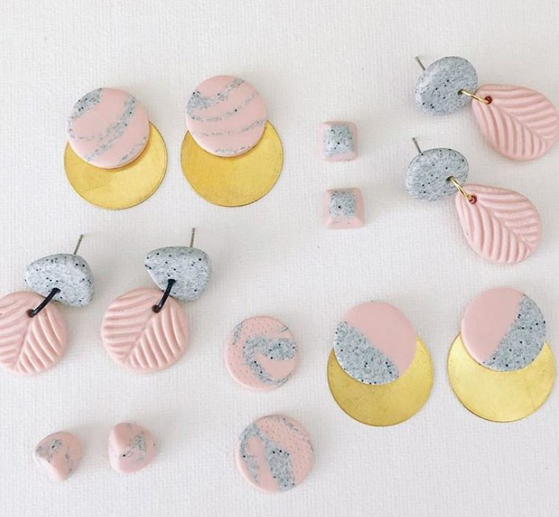 TOOTZZI 'Coconut Ice' polymer clay earring collection inspired by the everyday