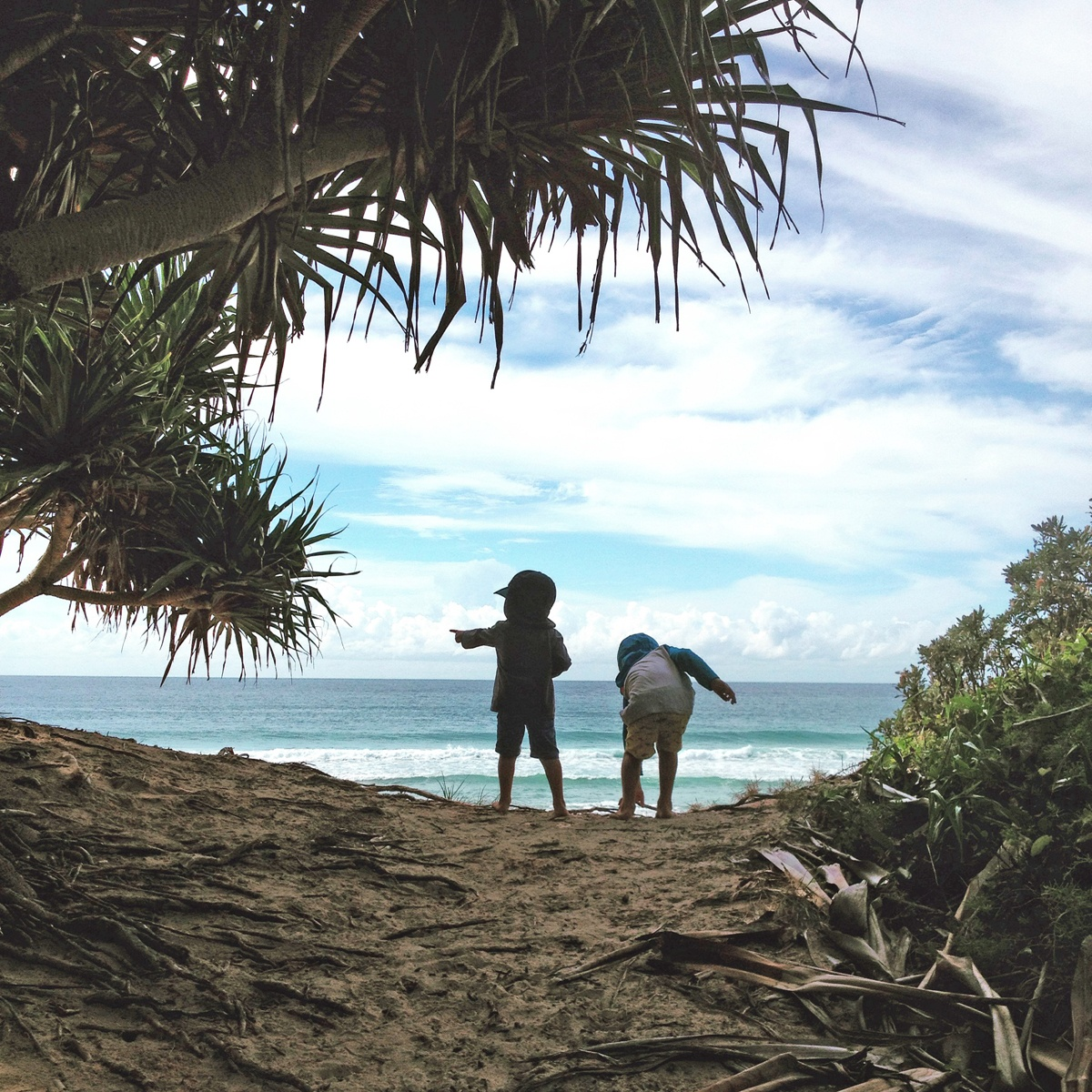 Melinda's boys enjoying their QLD coastal lifestyle