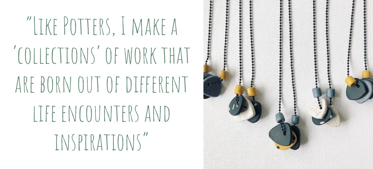 "'ABSTRAC-TION' polymer clay necklaces  by TOOTZZI:""Like Potters, I make a 'Collections' of work that are born out of different life encounters and inspirations"""