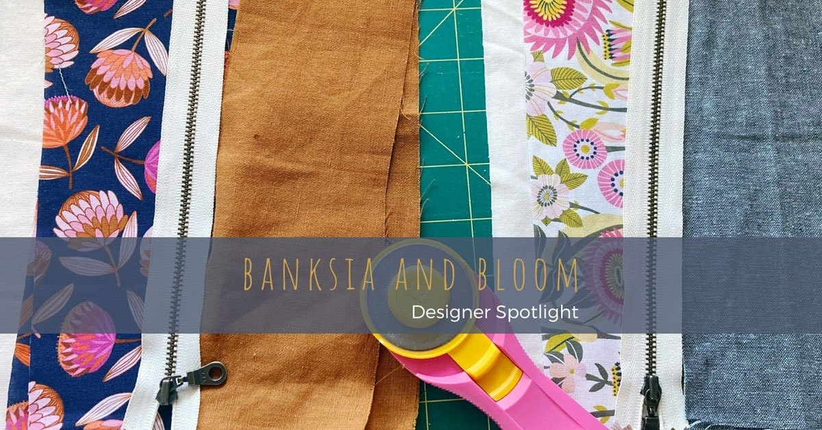 Former early childhood educator, Caroline tames her inner perfectionist and the symptoms of her autoimmune disease by focussing her energy on sewing beautifully practical accessories for her handmade brand, Banksia and Bloom