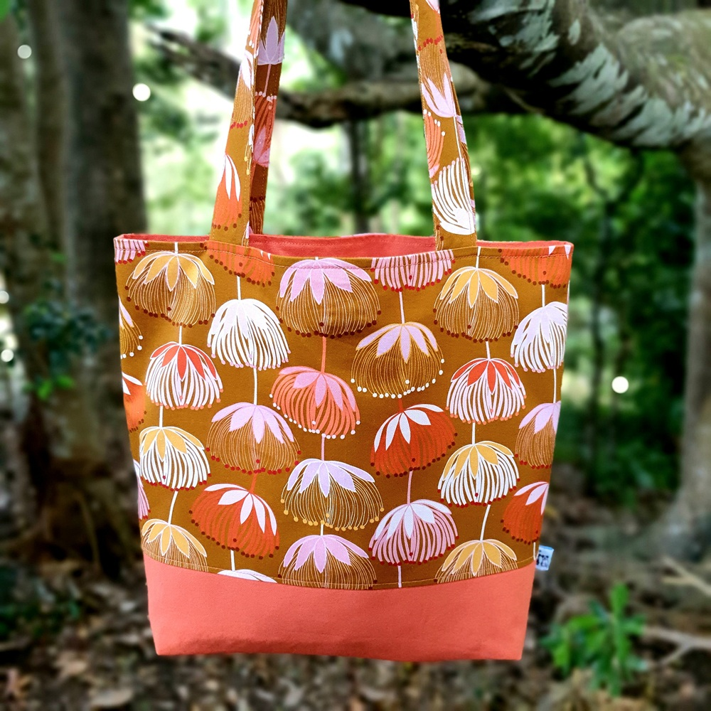 A Joselyn Proust floral print project tote bag by Birdy & the Boys
