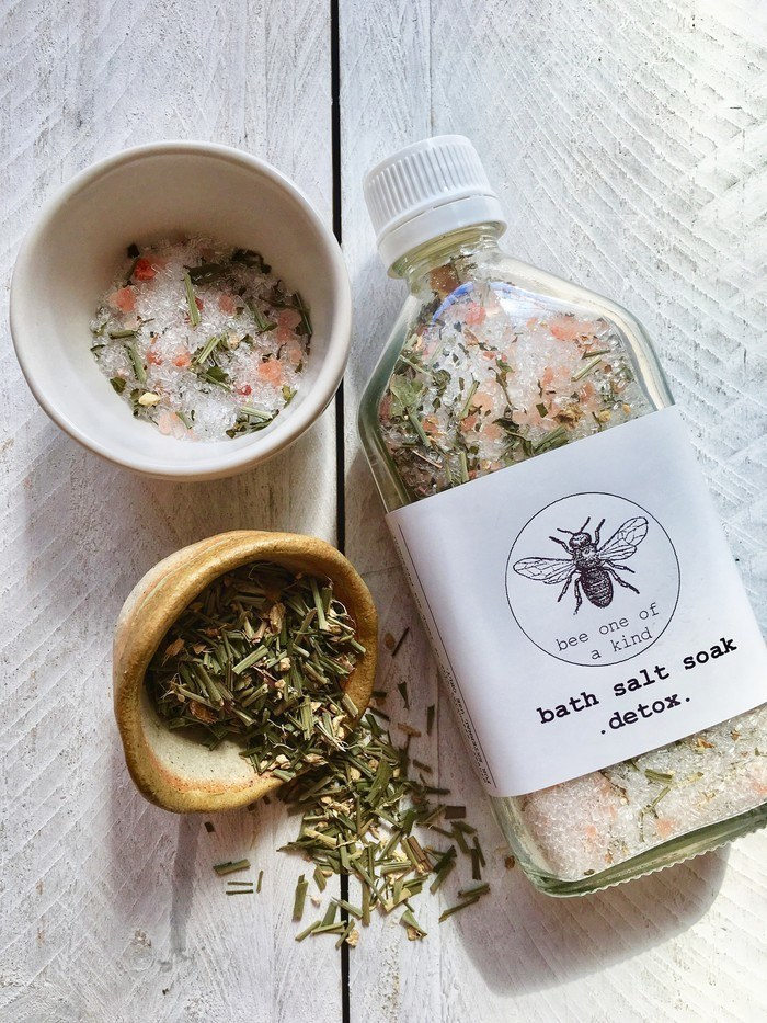 Handmade natural detox bath salts by bee one of a kind