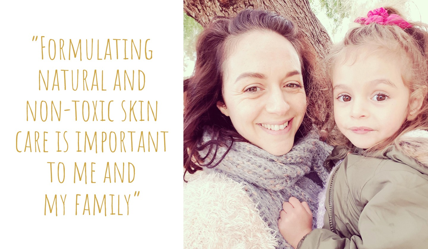 Natural skincare maker, Melissa, with her daughter and inspiration, Luna; 'Formulating natural and non-toxic skincare is important to me and my family'
