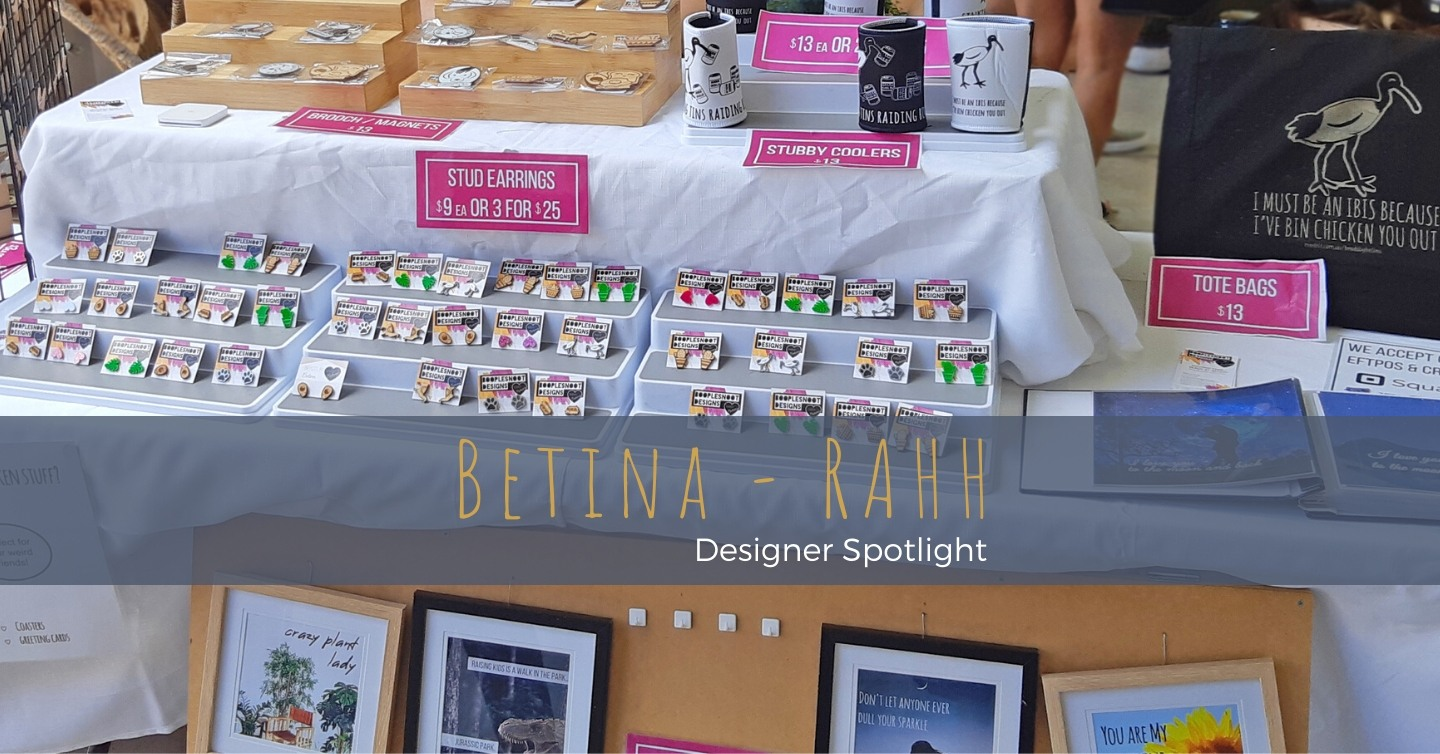 Betina creates a wide variety of curious and quirky handmade jewellery, greeting cards and more from her home in Brisbane, Queensland