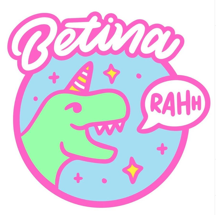 The new bright and cheerful betina-RAHH logo