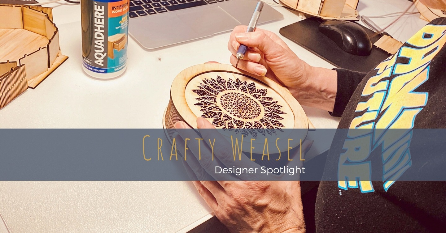 Never considering herself an artistic person, Esther has used computer skills and a laser-cutter to carve herself a new post-40 identity as a creative - working from her home in Fremantle WA to create sustainable timber homewares & gifts.