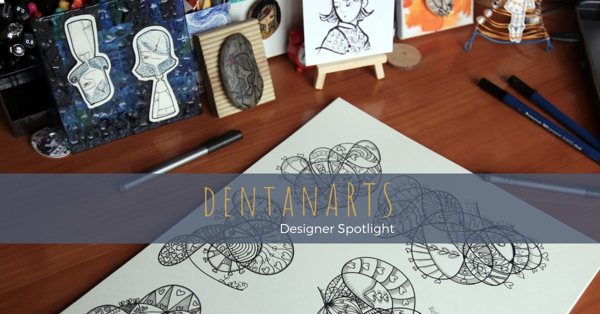 Sydney disability support worker and artist, Dentan creates free-hand illustrations and wearable art, predominantly featuring cute and quirky characters with positive messages about love and life