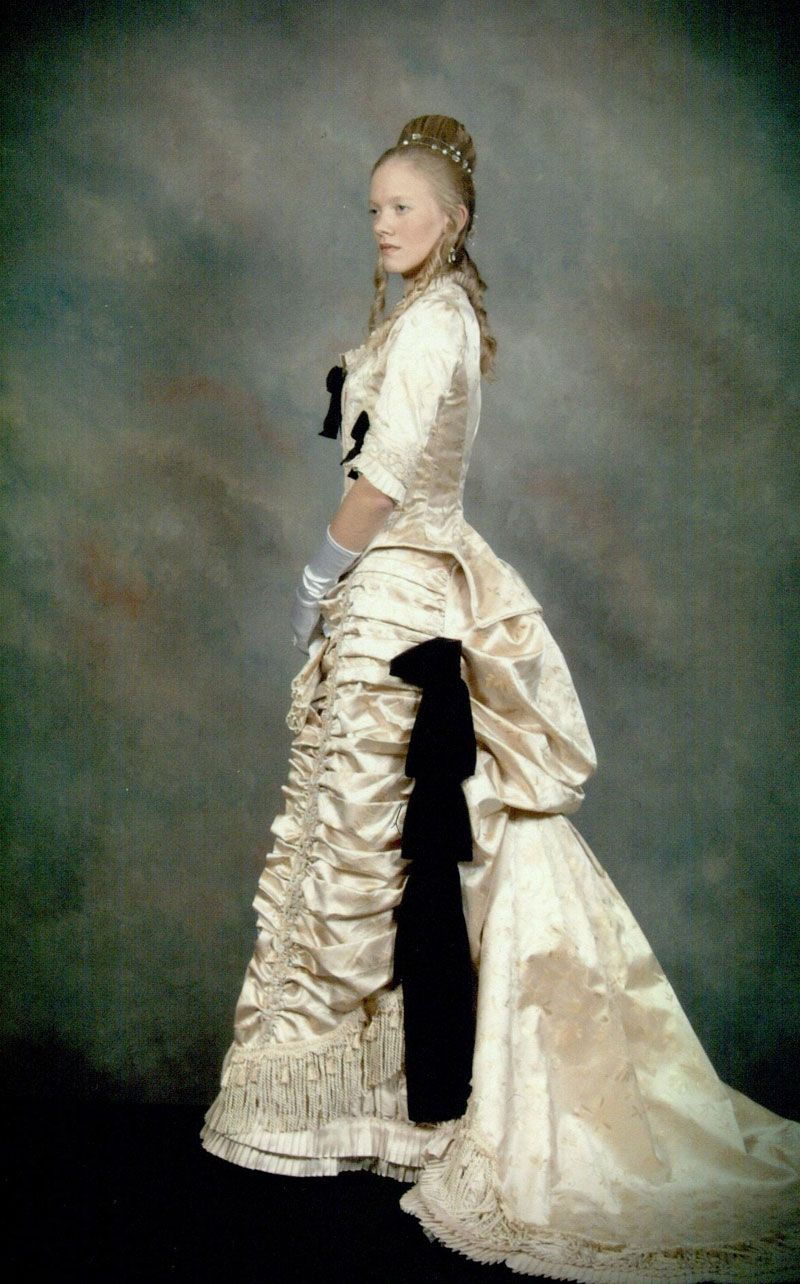 Another of Terry's stunning and intricate period gowns in ivory
