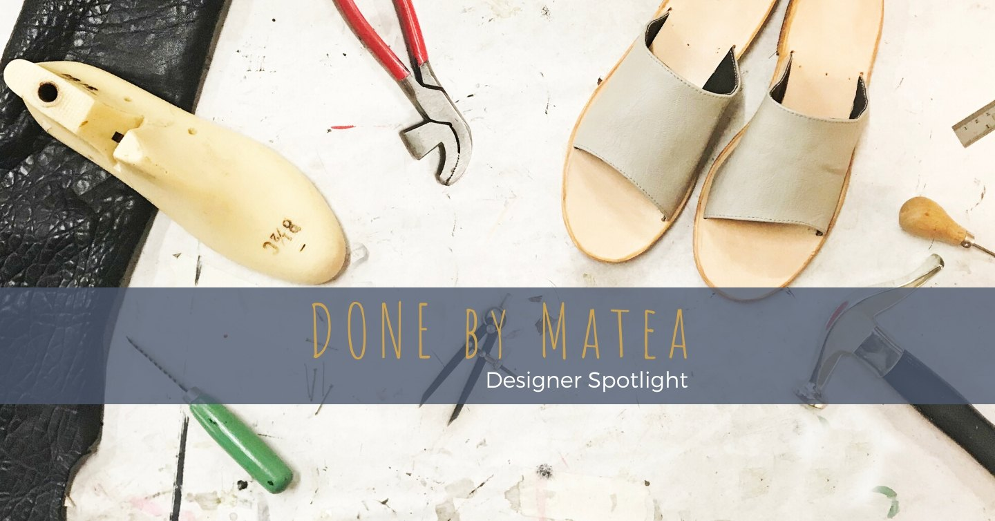 Matea is an artist, designer and maker of tangible, functional, and charming things. She designs and handcrafts everything from footwear to leather jewellery from her Adelaide studio.