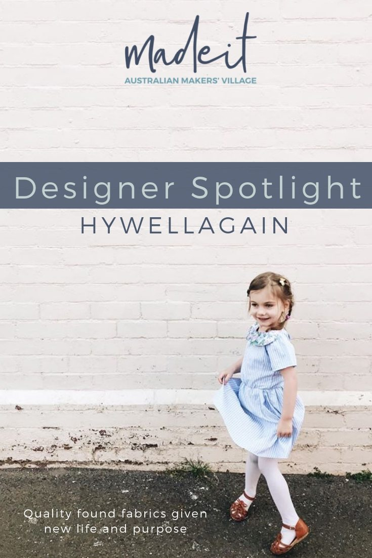 Hywell combines a life-long passion for fashion with her interest in sustainable living to create upcycled children's garments designed for play and individual style