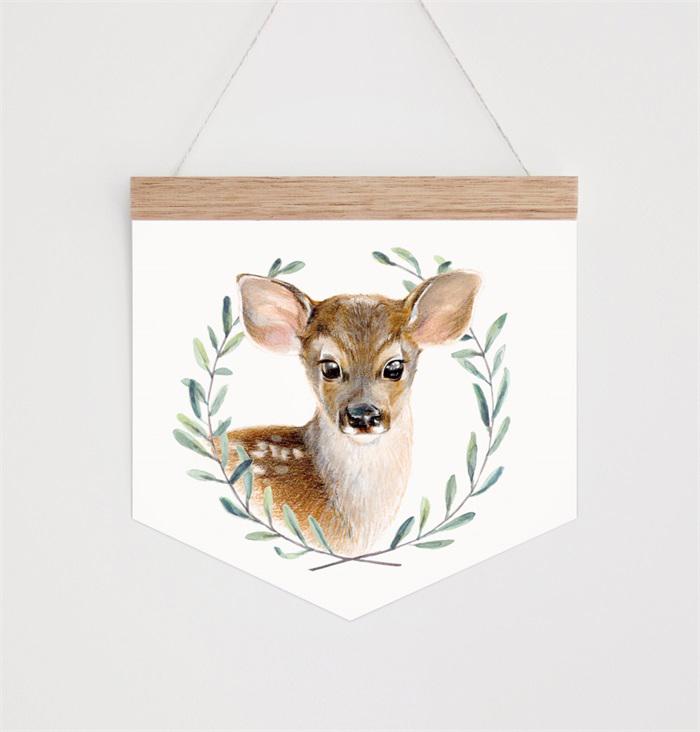 Hip Ink Hooray watercolour deer wall hanging