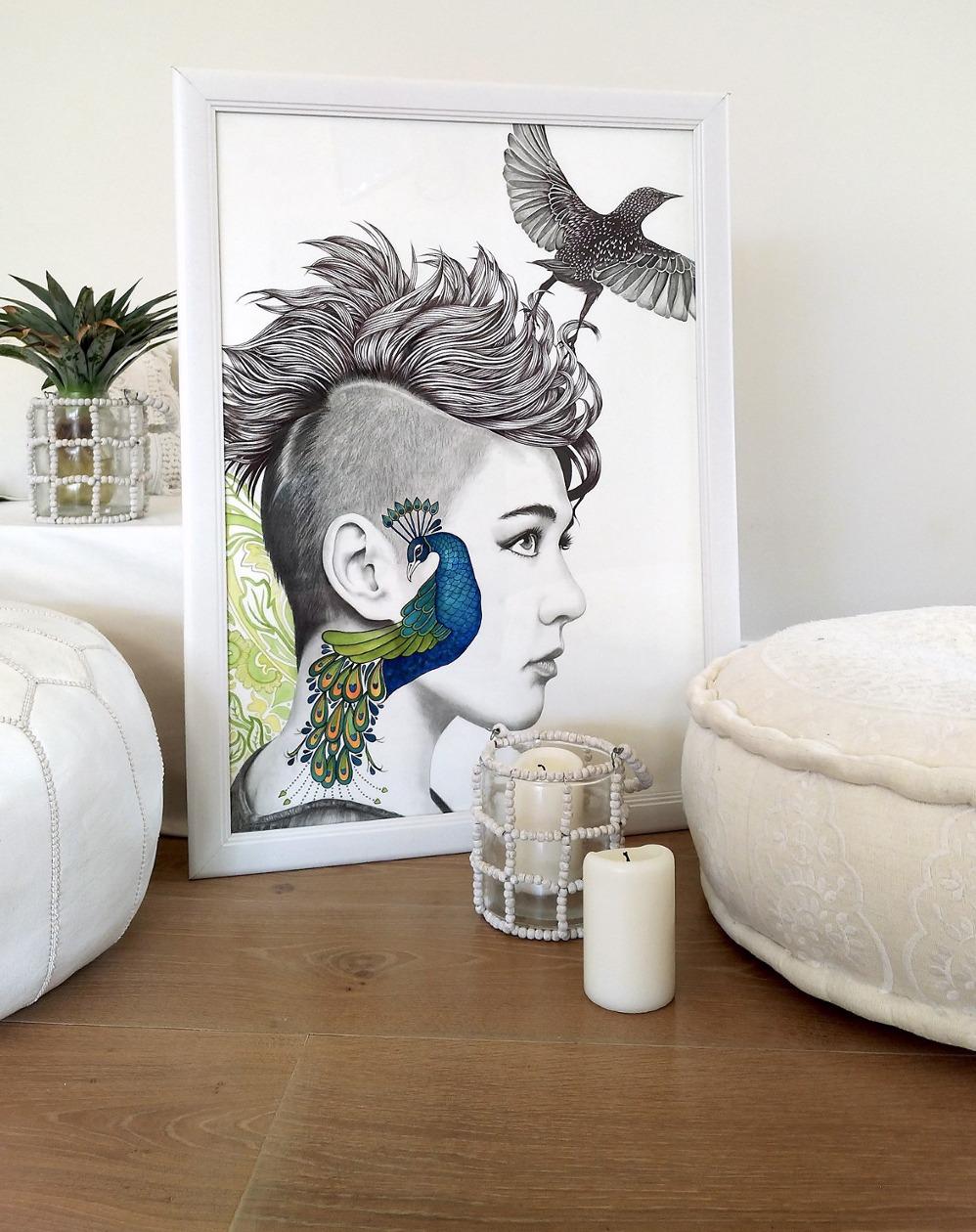 Photoshoot of finished Kati Designs artworks