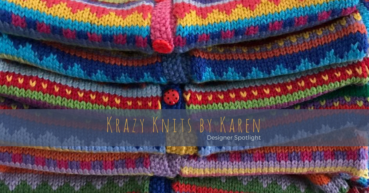 A life-long knitter with wanderlust, Karen creates whimsical hand knitted children's wear from luxury yarns