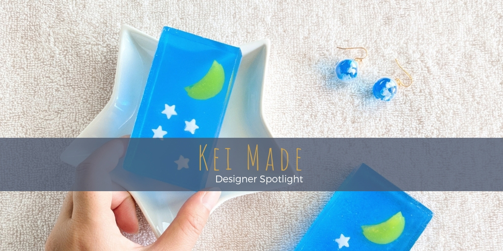 Kei channels a fascination with Japanese culture and her love of nature into intricate handcrafted kawaii jewellery pieces and cute soap art.