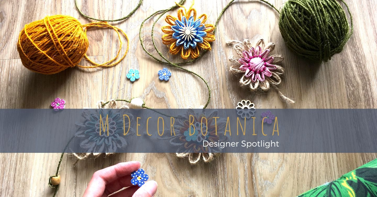 Marketa designs and creates colourful everlasting floral decorations from natural fibres to brighten interiors and add a special touch to gift wrapping, craft projects, and floral arrangements