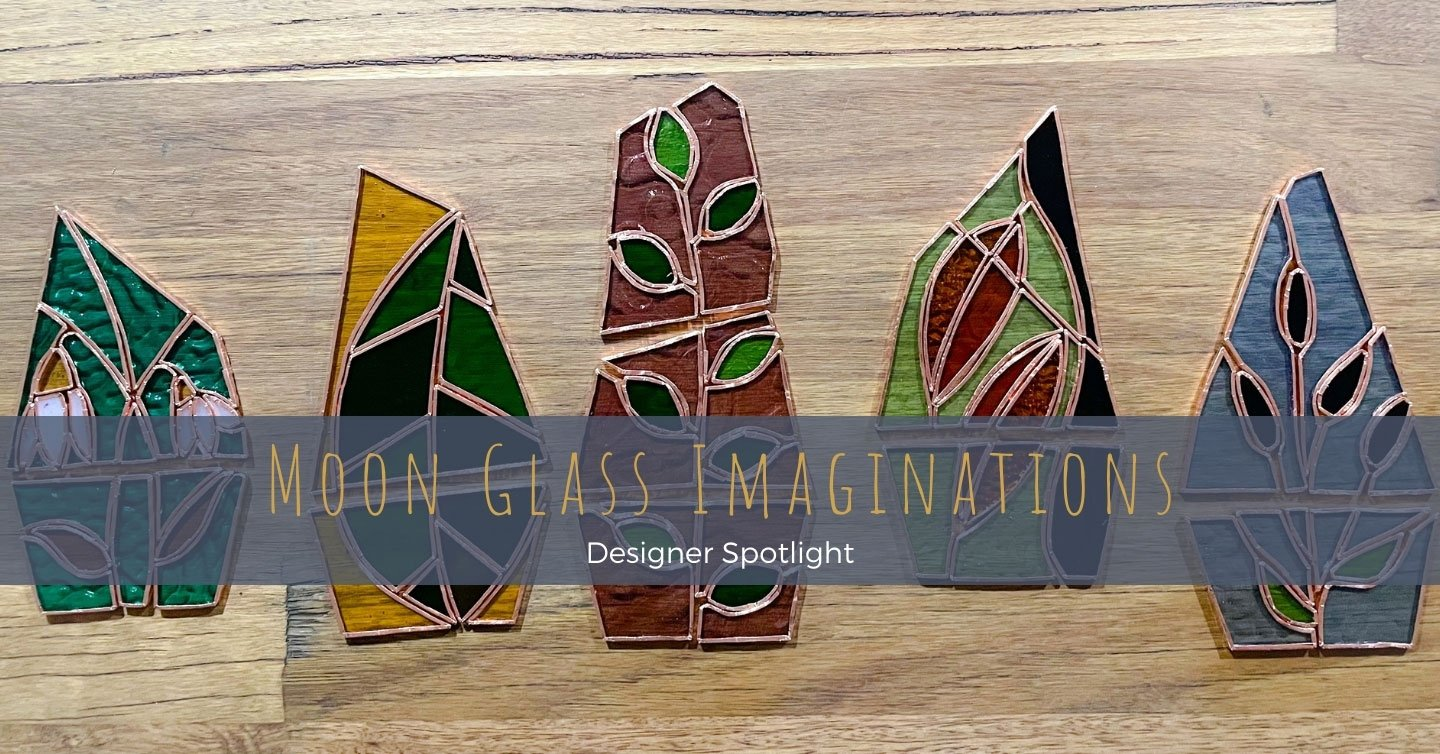 Our 2021 NAIDOC Week featured maker; Kamilaroi woman and midwife, Kahlea, pursues her deep connection to the land and nature, and her 'obsession' with the moon through creative pursuits in stained glass.