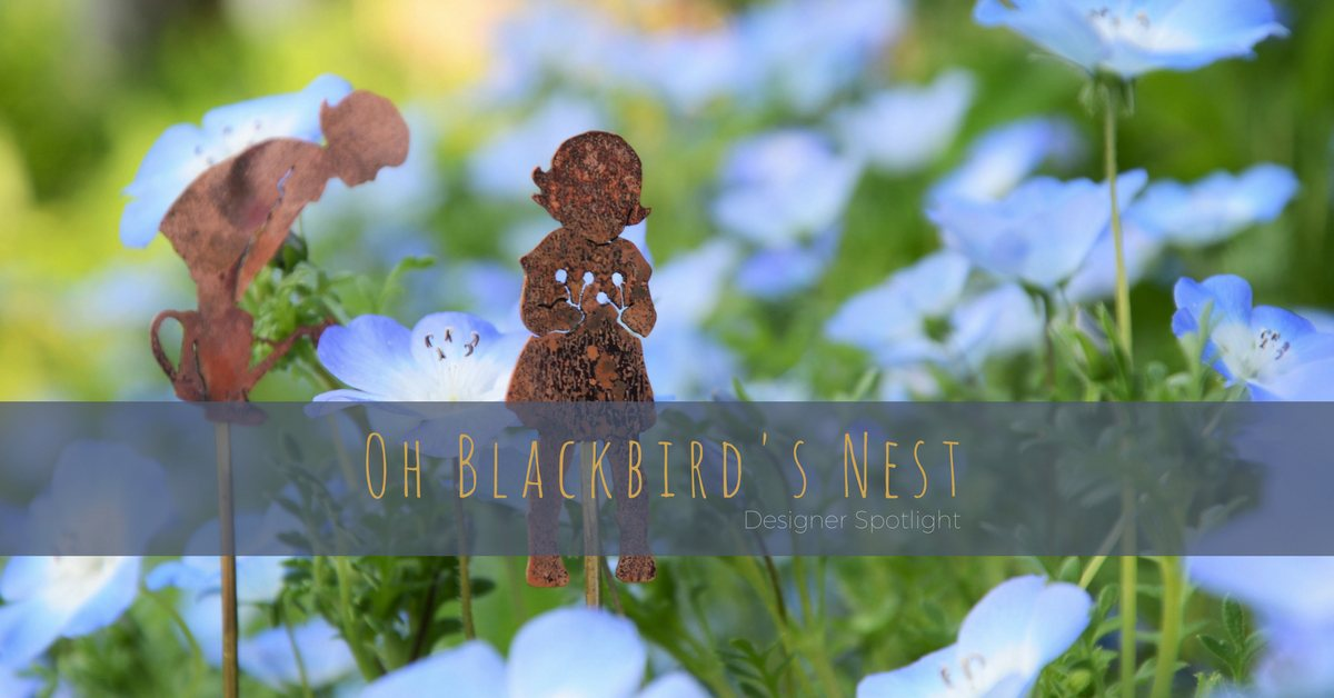 Rachel from Oh Blackbird's Nest creates whimsical jewellery & garden ornaments from base metals and found objects