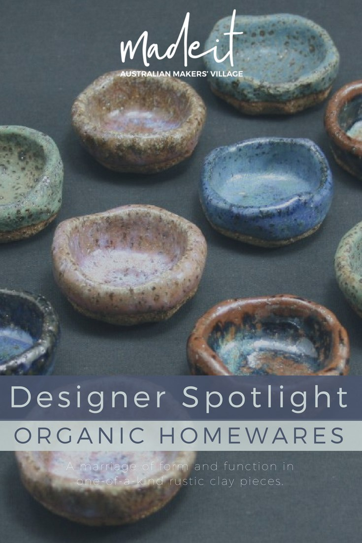 Tallaine is a part-time potter with a love of organic textures. She creates functional one-of-a-kind ceramic homewares with a predominantly rustic aesthetic and sensory appeal from her Melbourne home workshop, under the close guidance of her two cocker spaniels.