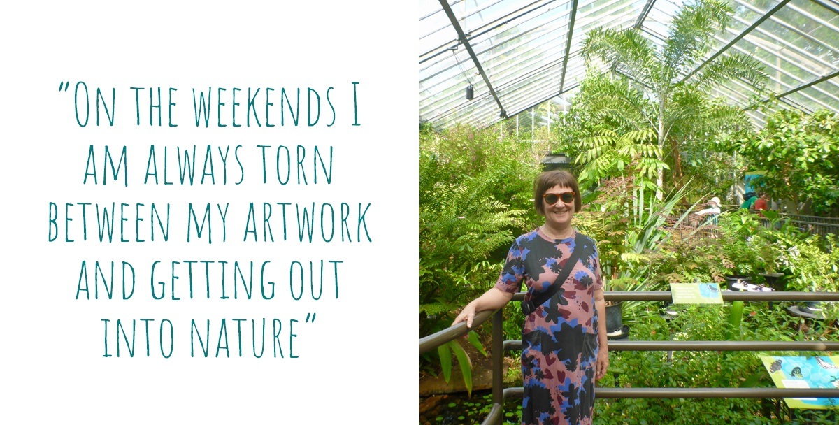 Owl Little Print Shop maker, Nicole, enjoying the parks, gardens & zoos of her home city of Melbourne: 'on the weekends I am always torn between my artwork and getting out into nature'