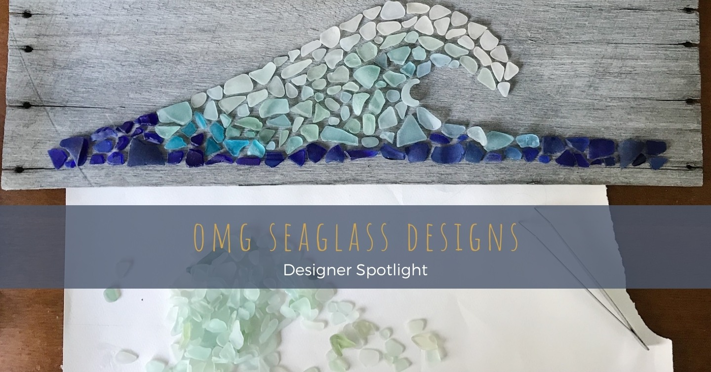 Kirsty of OMG SeaGlass Designs collaborates with the sea to create one-of-a-kind Jewellery and art pieces repurposed from some of history's long lost remains