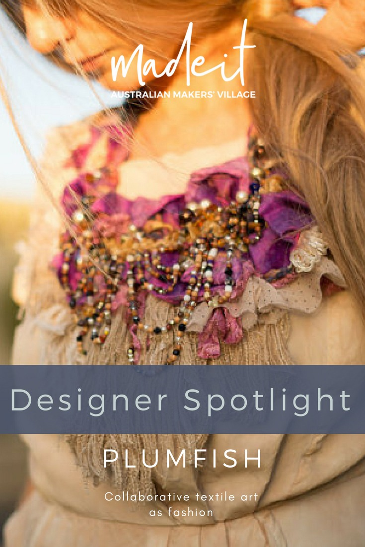 Creativity runs in the family; 3rd generation maker, Rosemary collaborates with her daughter Holly to create eclectic textile and beaded accessories.