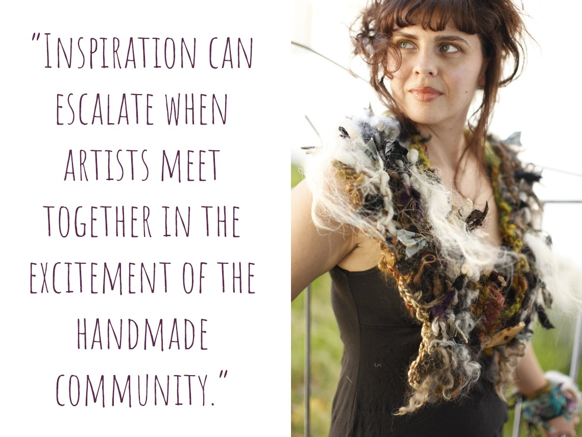"Another of Rosemary's creations: ""Inspiration can escalate when artists meet together in the excitement of the handmade community."""