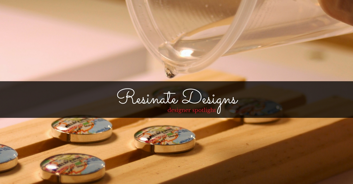 Tracey and Shaun, the husband and wife team behind Resinate Designs, create stunning modern jewellery with a vintage twist