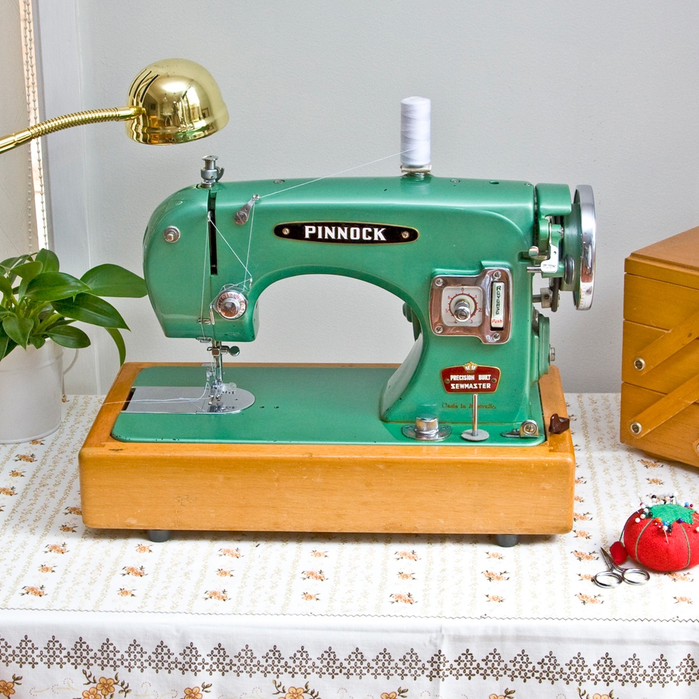 Lindsey's husband, and product photographer, Levi; 'despite my protests one morning he sneakily found me the most beautiful old Aussie-made Pinnock sewing machine.'