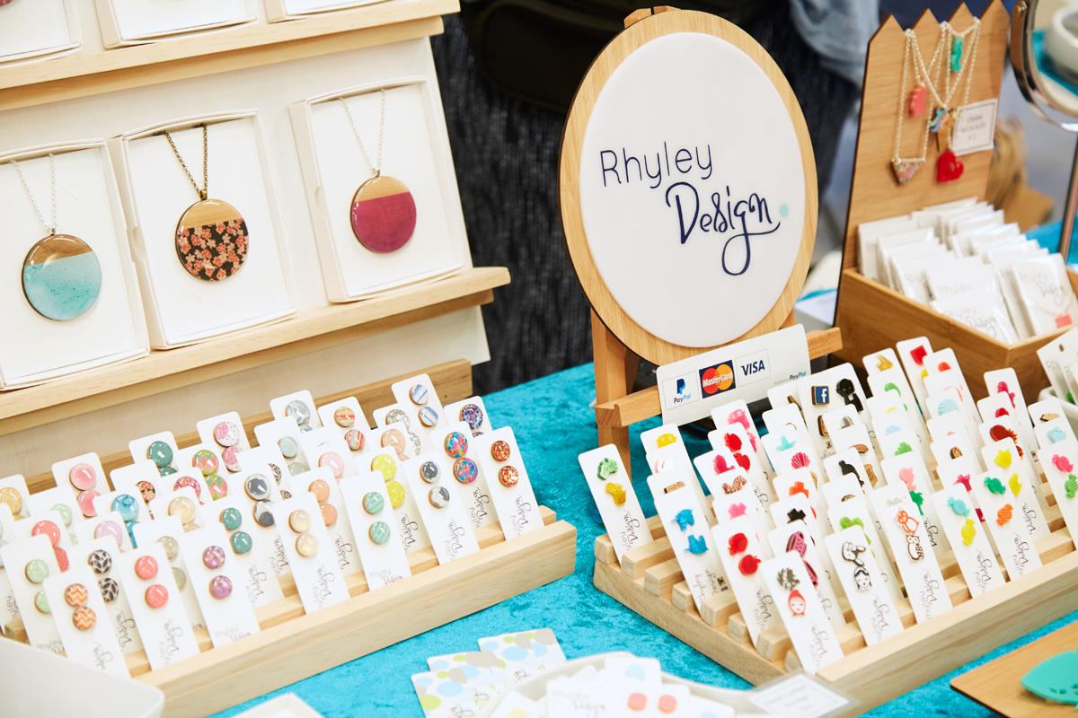 Rhyley Design's colourful Madeit Makers Village market display at Sweet Expo, Melbourne