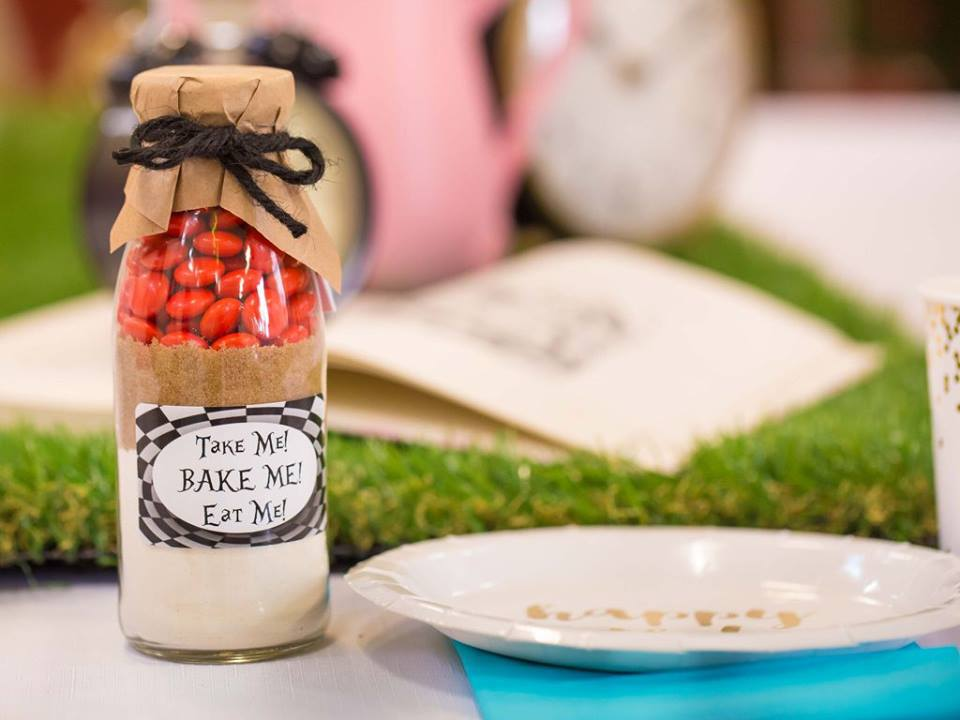 'Take me, bake me, eat me' red smarty cookie mix in a bottle