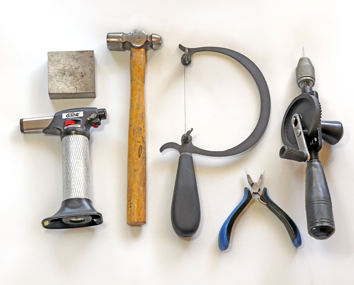 Elizabeth's jewellery-making tools