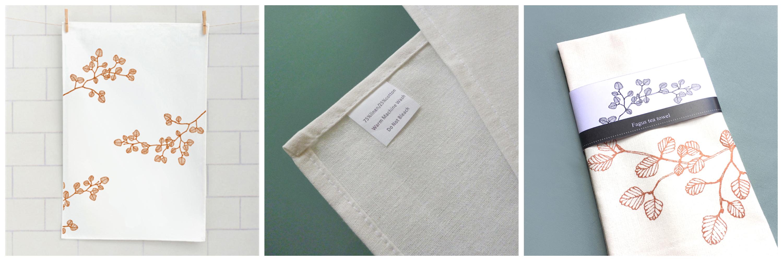 'Fagus' design tea towel in detail