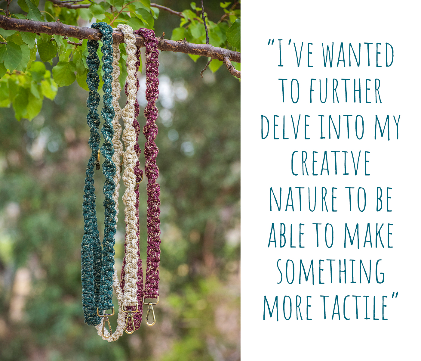 Some of The Boho Pet macramé dog lead range; 'I've wanted to further delve into my creative nature to be able to make something more tactile'