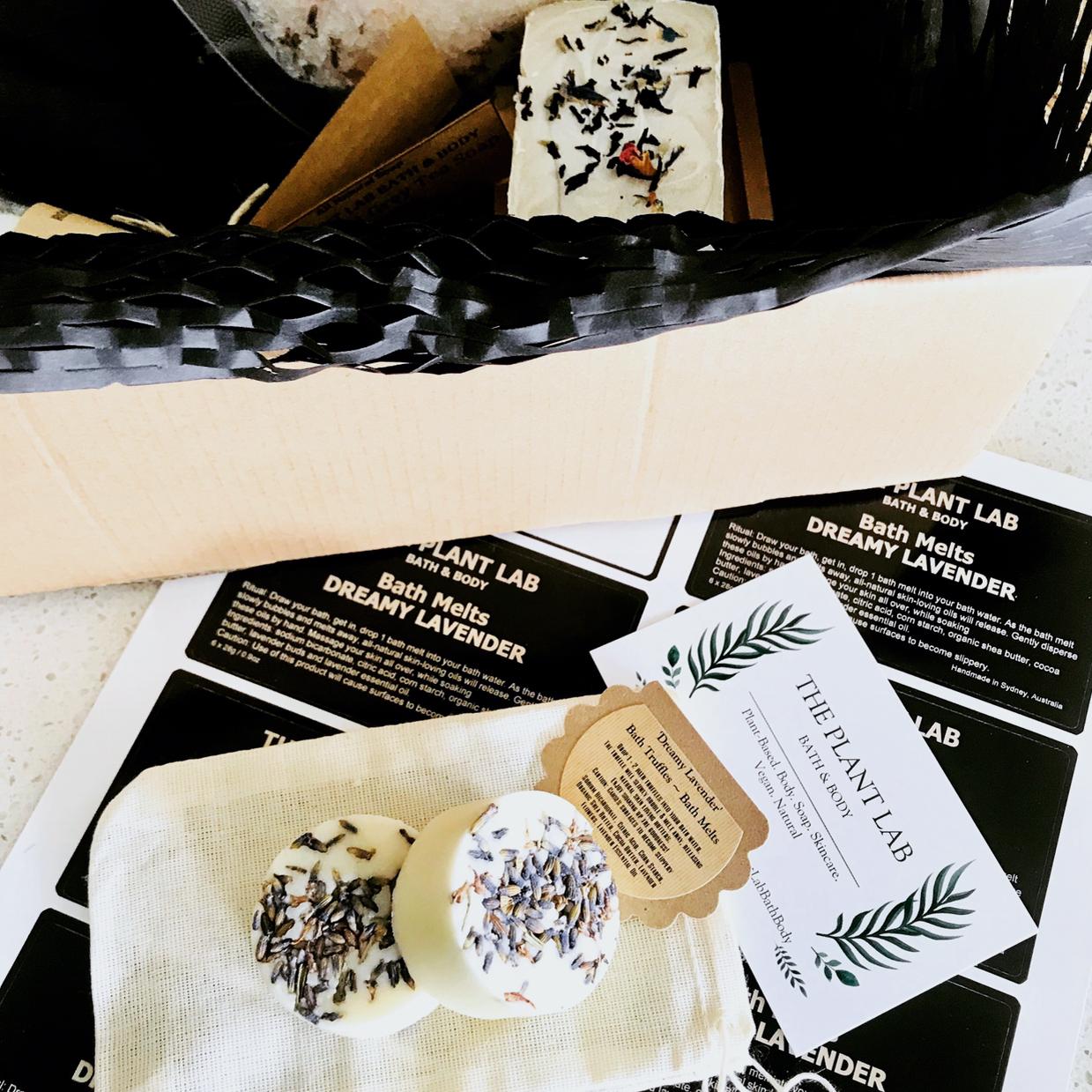 A pair of 'Dreamy Lavender' Bath Truffles – handmade bath melts by The Plan Lab Bath & Body