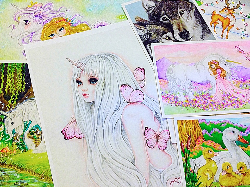 A range of Jodie's fantasy illustrations and art works