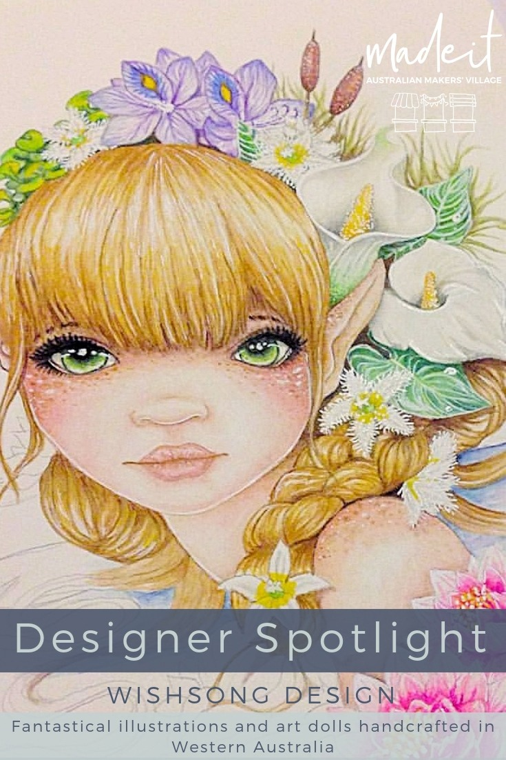 Inspired by nature, children, and fantasy worlds, self-taught hobby artist, Jodie, creates art dolls, paintings, illustrations and more, with the intent of bringing joy to others
