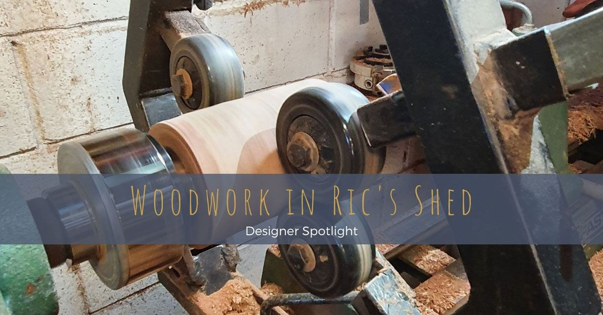 FIFO worker and devoted family man, Ric, inherited a passion for woodwork from his cabinet-making grandfather and creates one-of-a-kind timber and steel homewares and useful objects as a side-line business