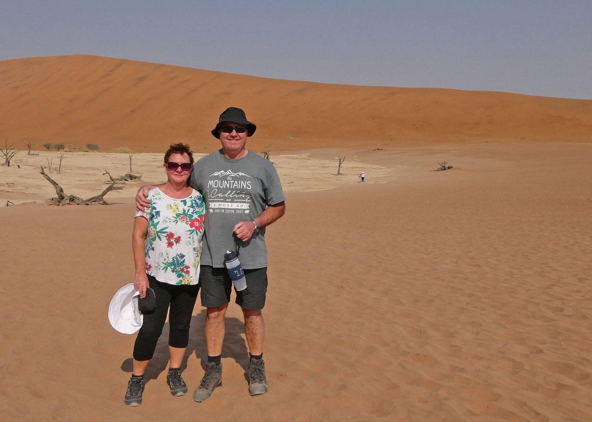 Ric and his wife of 37 years, Robyn on one of their caravanning adventures