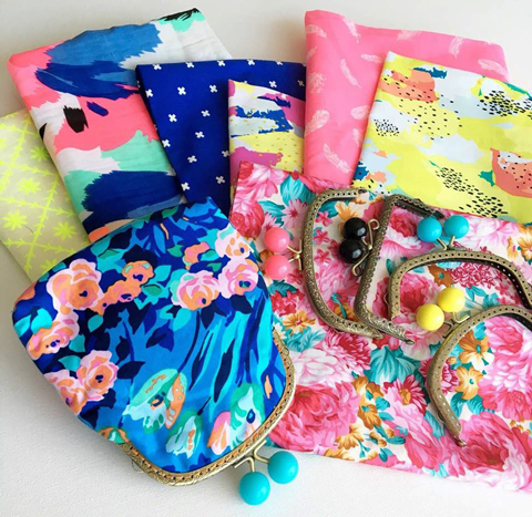 Some of Steph's fabric collection destined to become pretty coin purses