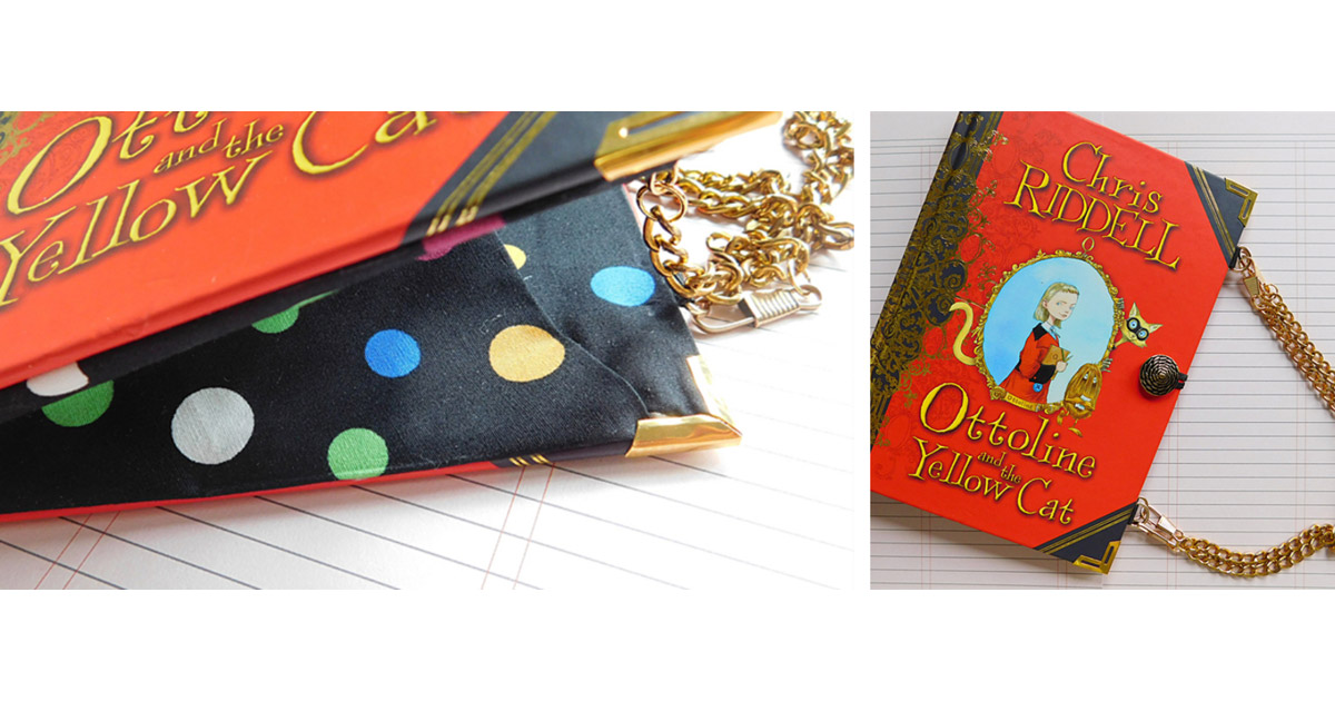 Chris Riddell's Ottoline and the Yellow Cat up-cycled book handbag.
