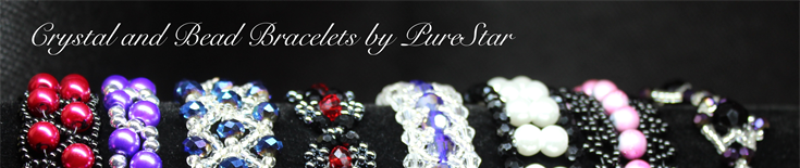 Crystal and Bead Bracelets by PureStar